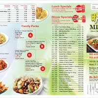 Scanned Menu For Mingie 039 S Chinese Take Out Restaurant