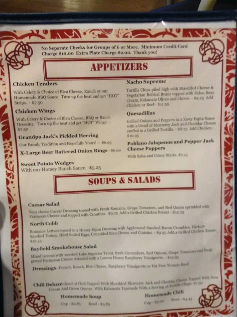 Pier Plaza Restaurant Menu Menu For Pier Plaza Restaurant Bayfield