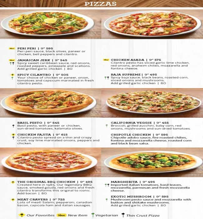 California Pizza Kitchen Bangalore