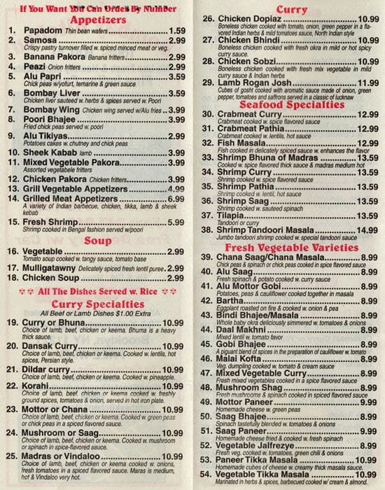 Bombay Kitchen Menu, Menu for Bombay Kitchen, Bushwick, New York ...