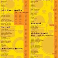Table Potheri Chennai Restaurant Zomato - Table 9 menu
