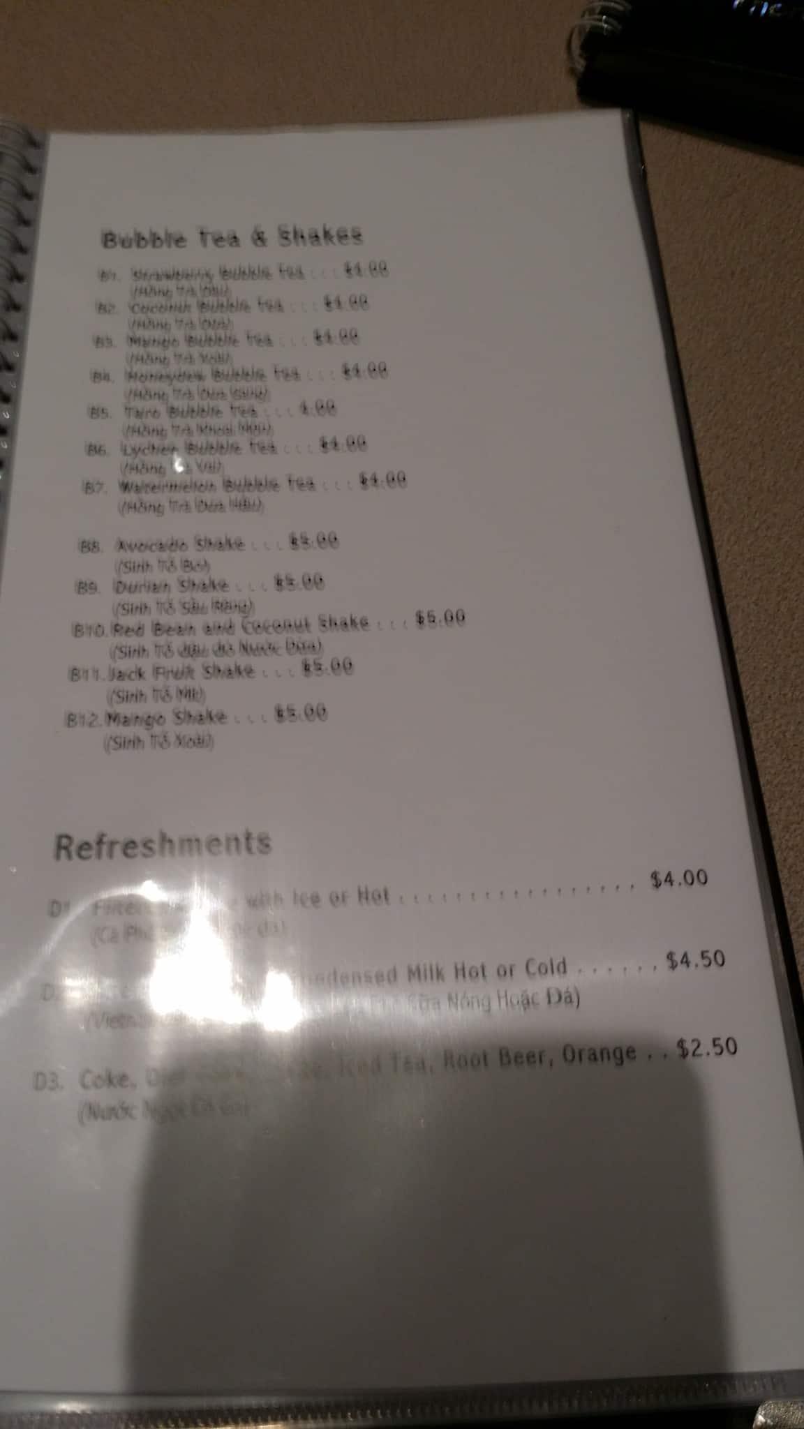 menu at pho 675 675 jefferson avenue restaurant prices