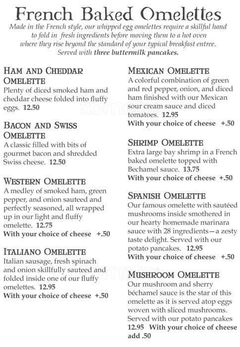 The Oak Table Cafe Menu Menu For The Oak Table Cafe Silverdale - Oak table restaurant silverdale