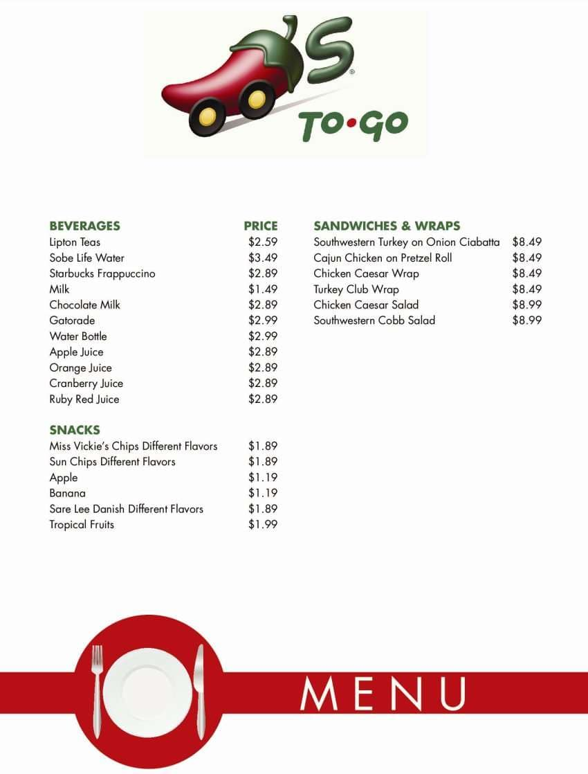 Chili\'s Grill & Bar Menu - Urbanspoon/Zomato