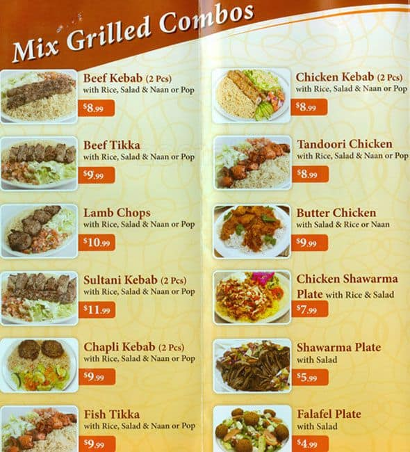 Image gallery shawarma menu for Afghan cuisine menu