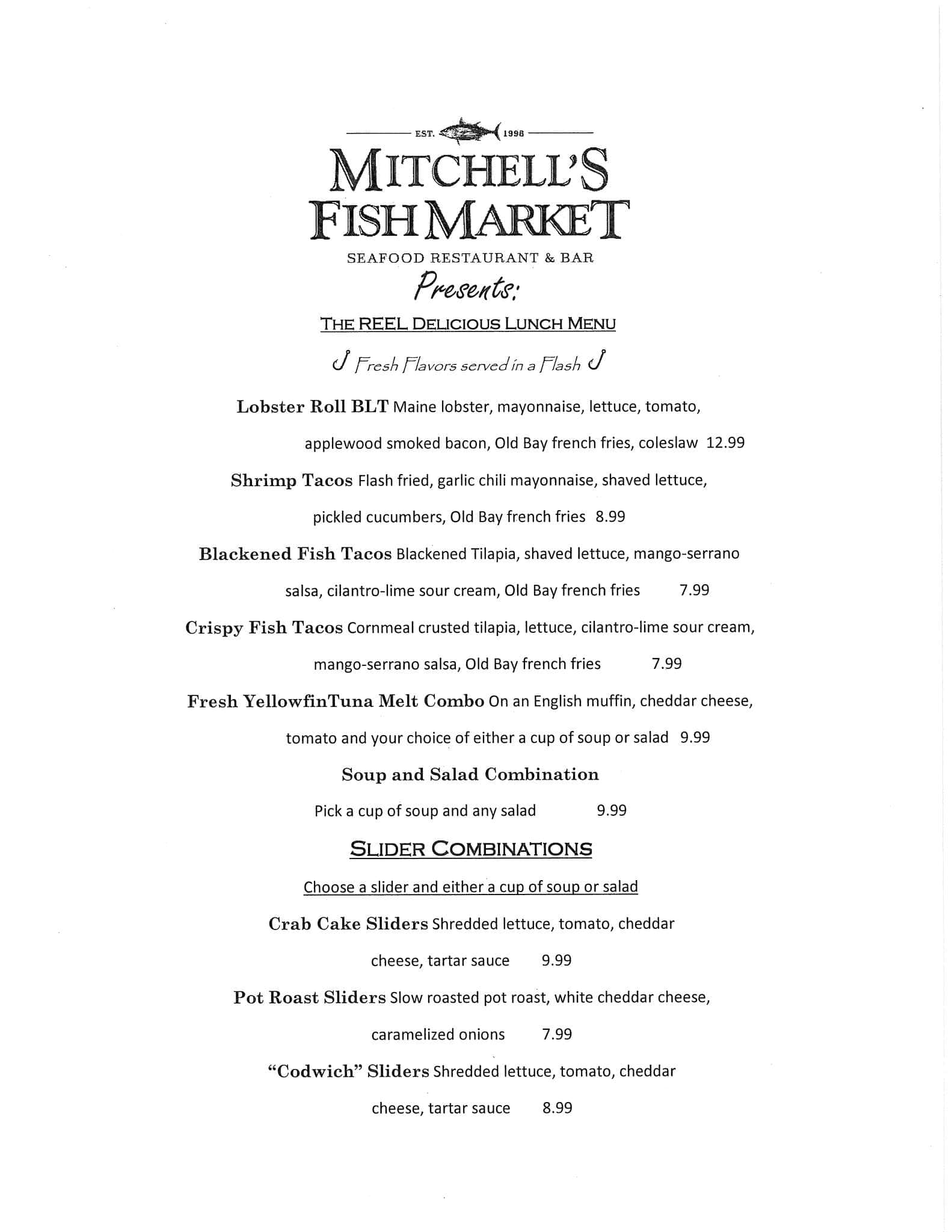 Mitchell 39 s fish market menu urbanspoon zomato for Mitchell s fish market destin