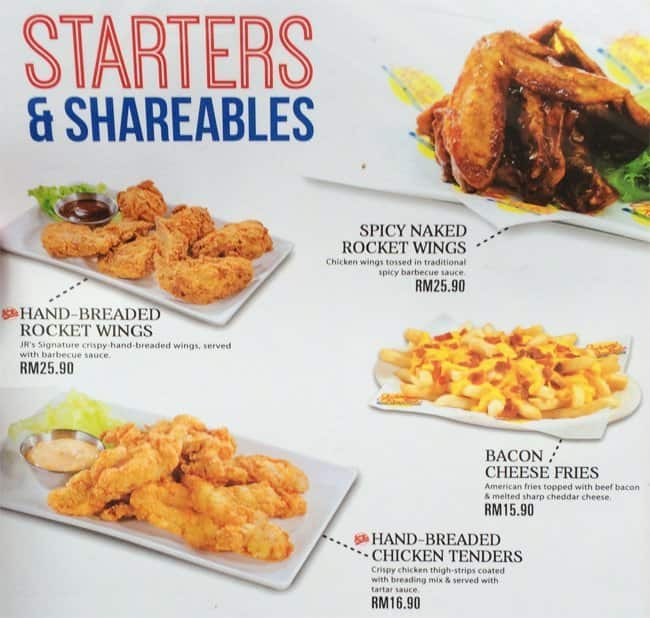 Johnny Rockets Menu, Menu for Johnny Rockets, Bukit ...