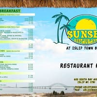 Scanned Menu For Sunset Restaurant Off The Beach