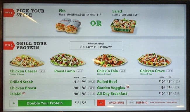 photograph regarding Pita Pit Printable Menu identified as Pita pit nutrients information and facts - Pb2 inexpensive