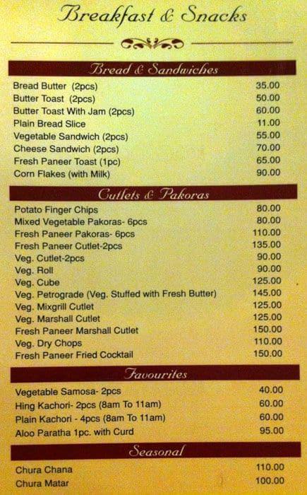 Rajasthan Restaurant Menu Menu For Rajasthan Restaurant Fraser