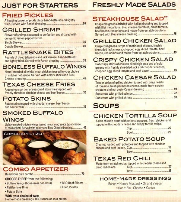 Texas road steakhouse coupons