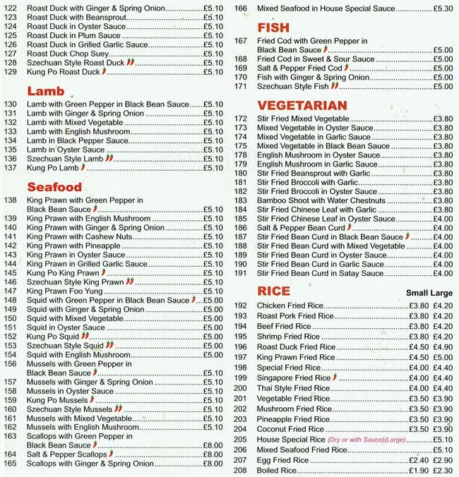the restaurant information including the rose menu items and prices may have been modified since the last website update all users are free to download and - Shanghai Kitchen