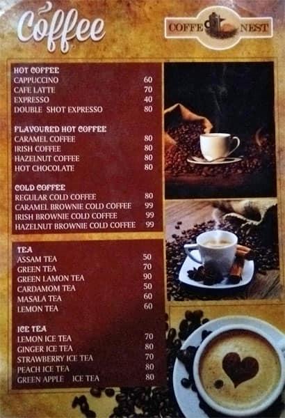 Coffee Nest Maligaon Menu