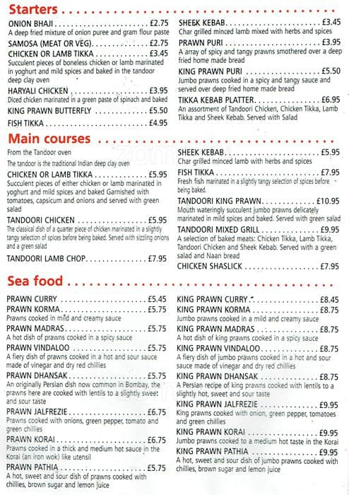 Guru Express Menu Menu For Guru Express Walton On Thames