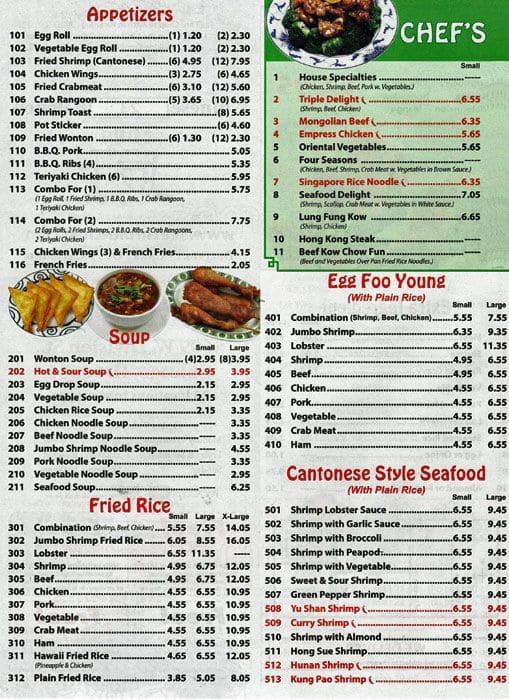 See Thru Chinese Kitchen Menu, Menu for See Thru Chinese Kitchen ...