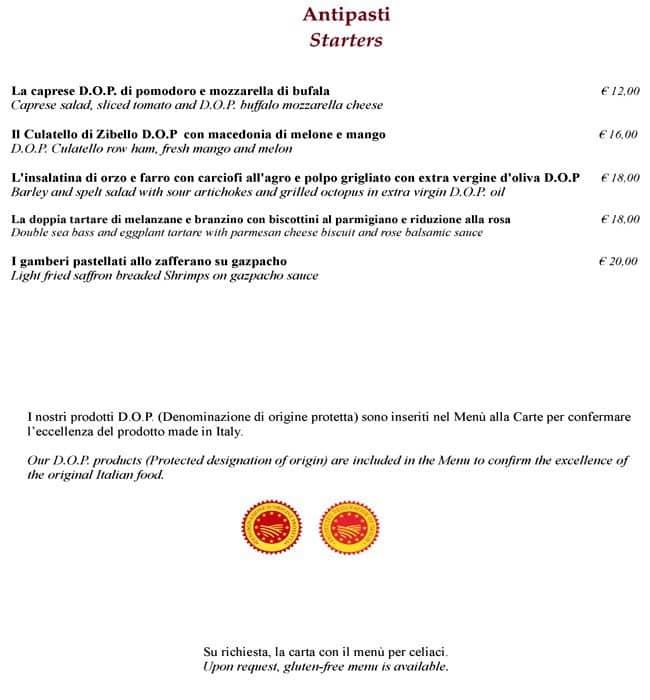 La Terrazza - Best Western Hotel Galles a Milano: Foto del Menu con ...