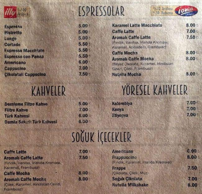 Кафе палермо меню