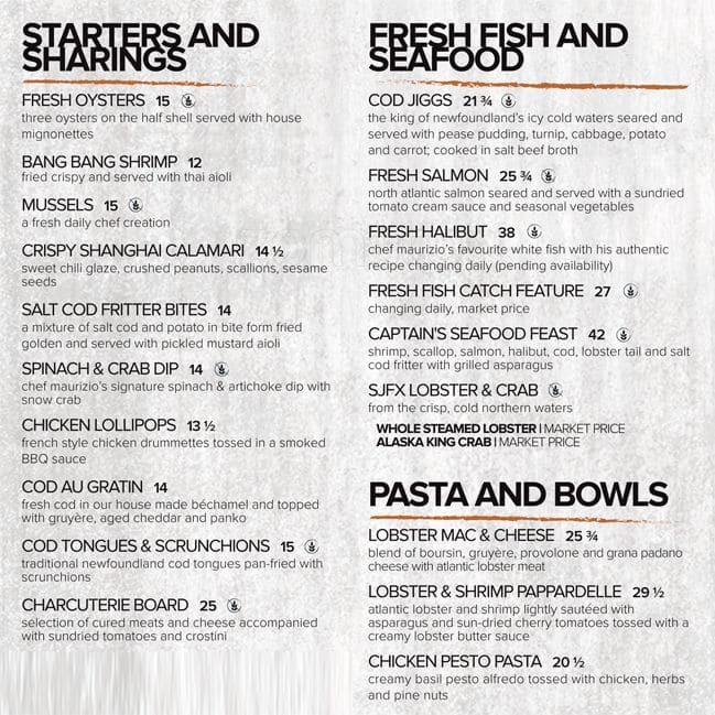St john 39 s fish exchange menu urbanspoon zomato for The fish house menu
