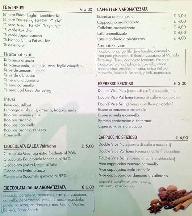 Vice Café Menu Menu For Vice Café Prati Roma Zomato Italy