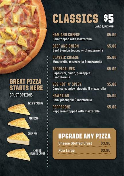 Pizza Hut Menu Menu For Pizza Hut Hornby Christchurch Menumania