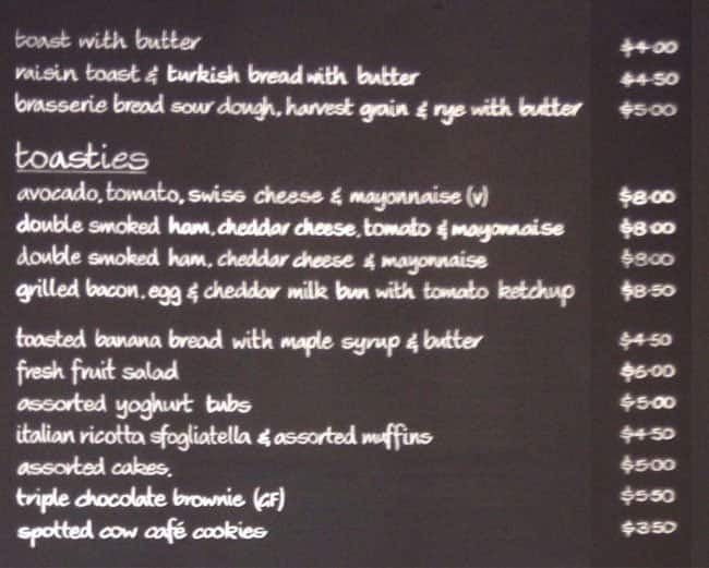 The Lounge Cafe And Bar Sydney Olympic Park Menu