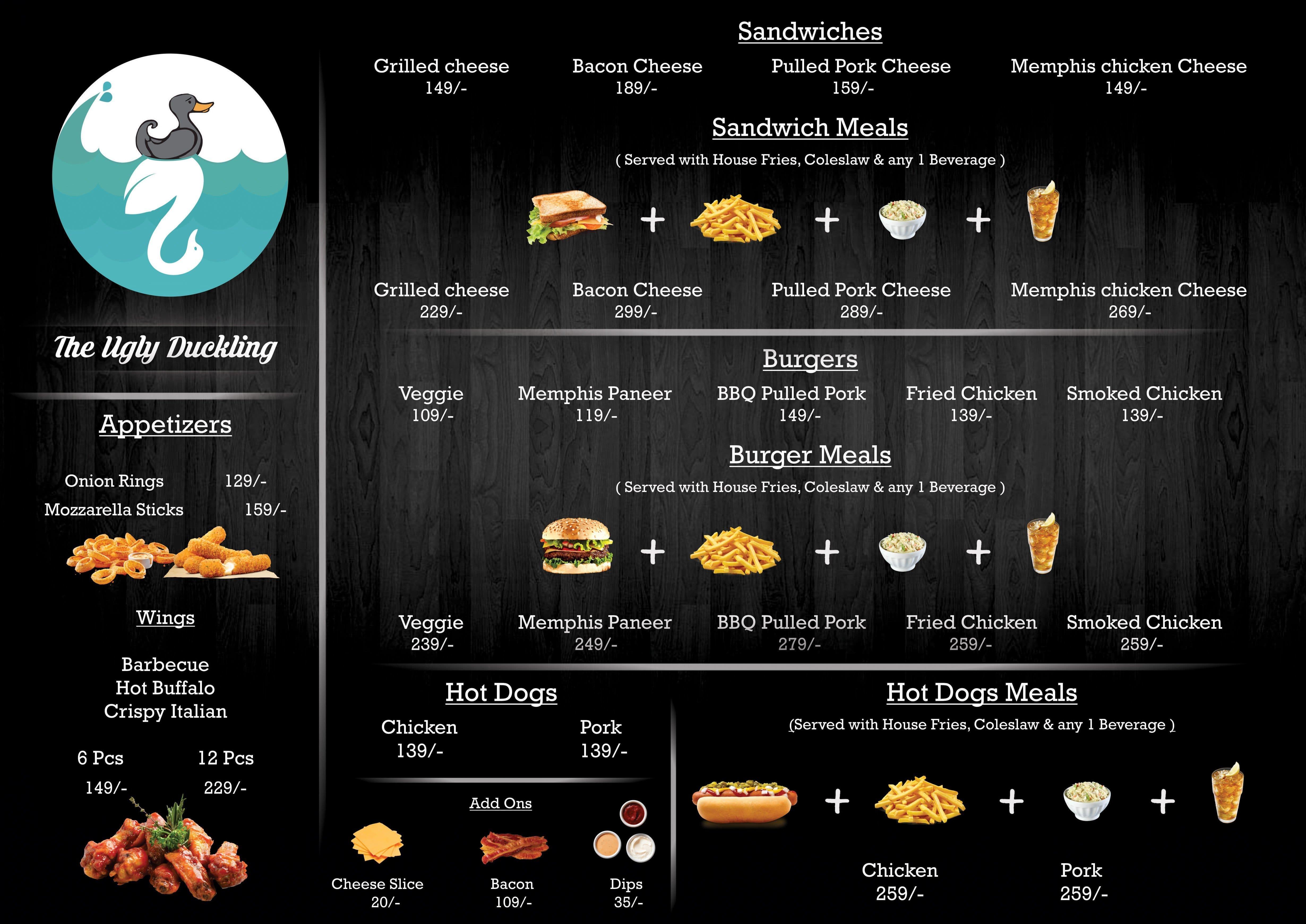 the ugly duckling bbq backyard menu zomato