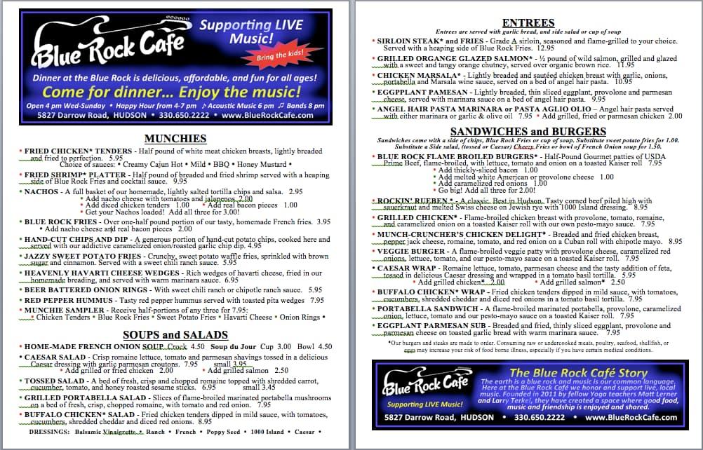 Blue Rock Cafe In Hudson Ohio