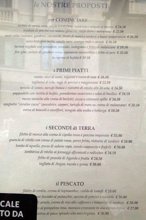 Don Lisander Menu, Menu for Don Lisander, San Babila, Milano ...