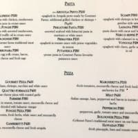 Scanned Menu For The Dining Room At Gourmet Farms
