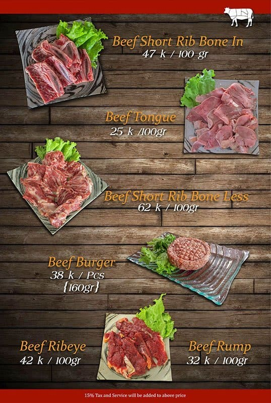 Nikuya Meat Shop  Grill Menu  Zomato Indonesia