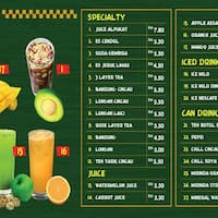 Scanned Menu For Dapur Penyet