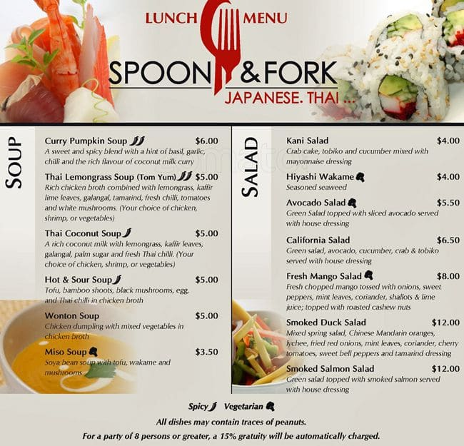 Spoon & Fork Menu, Menu for Spoon & Fork, Etobicoke ...
