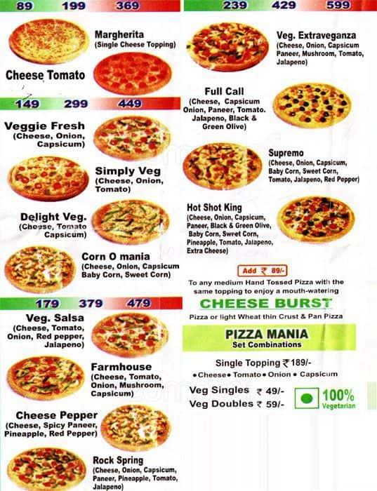 The Italian Pizza Menu Menu for The Italian Pizza Najafgarh New – Italian Menu