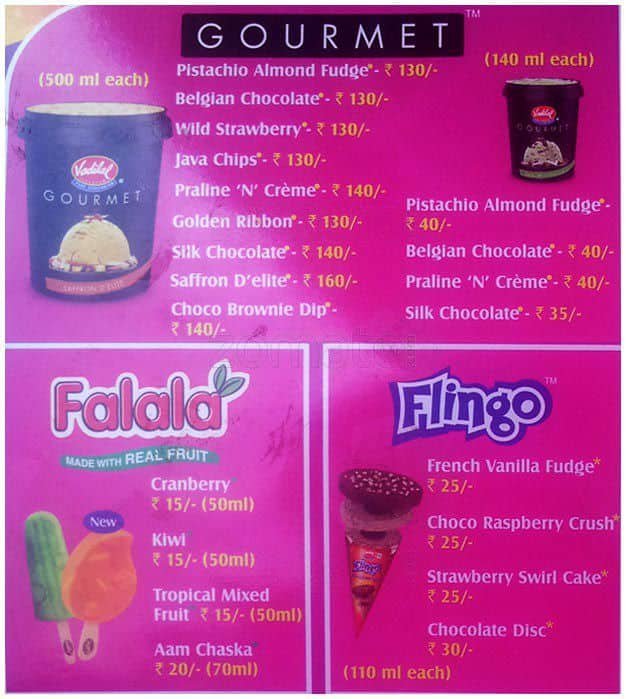 Vadilal Ice Cream Price List | www.pixshark.com - Images ... Vadilal Ice Cream Price List