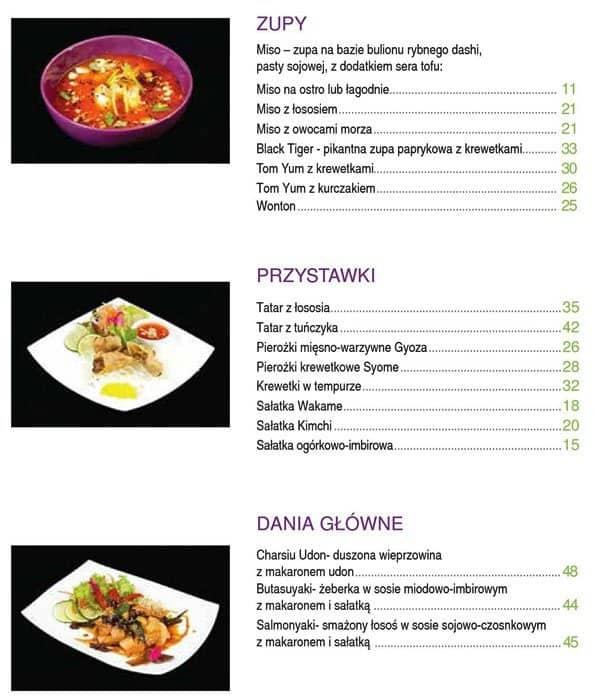 Manga Sushi Menu Menu Restauracji Manga Sushi Bemowo Warszawa