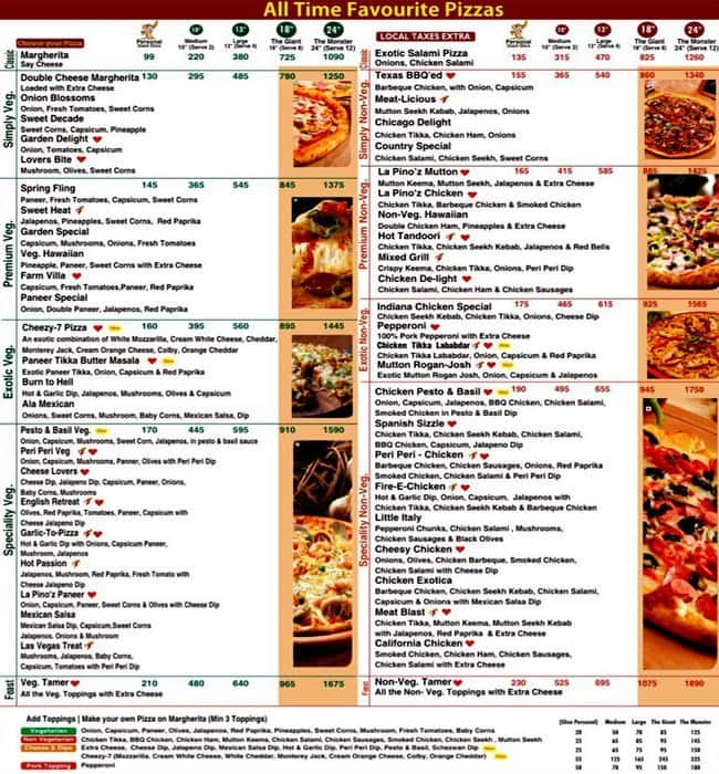 La Pino'Z Pizza Menu, Menu For La Pino'Z Pizza, Sector 9