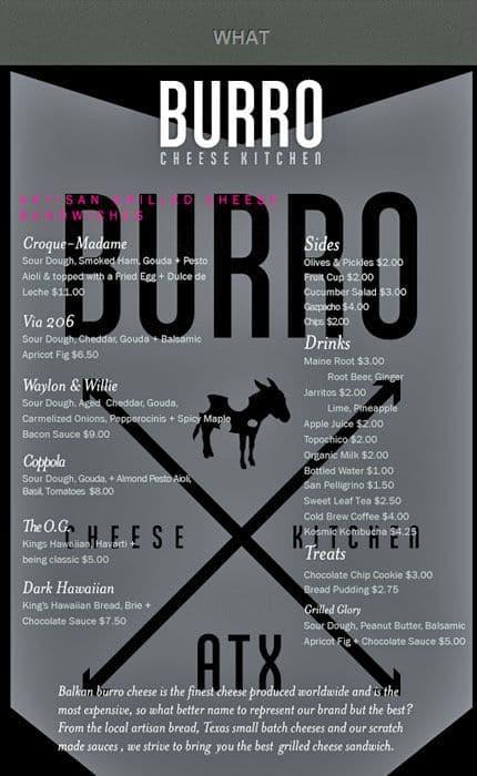 burro cheese kitchen travis heights menu - Burro Cheese Kitchen