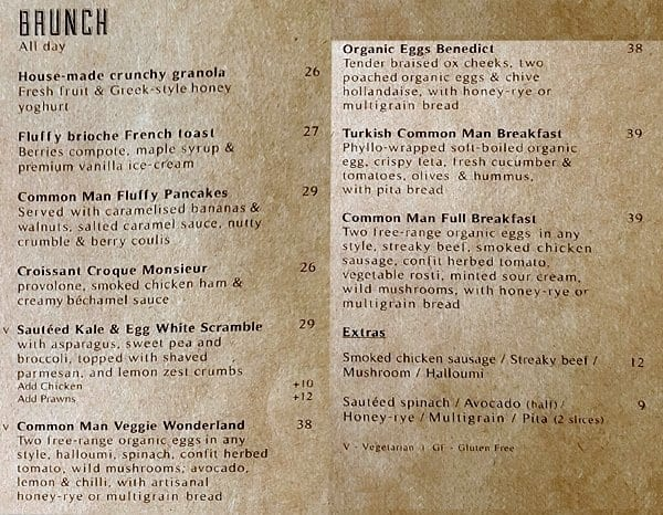 Common man coffee roasters kl menu