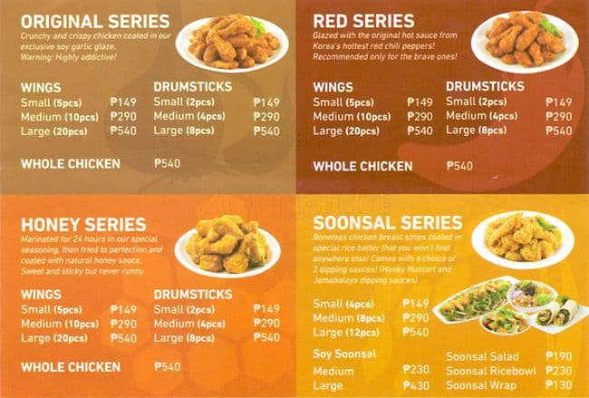 Dinner table with food dining table food - Kyochon Menu Menu For Kyochon Libis Quezon City