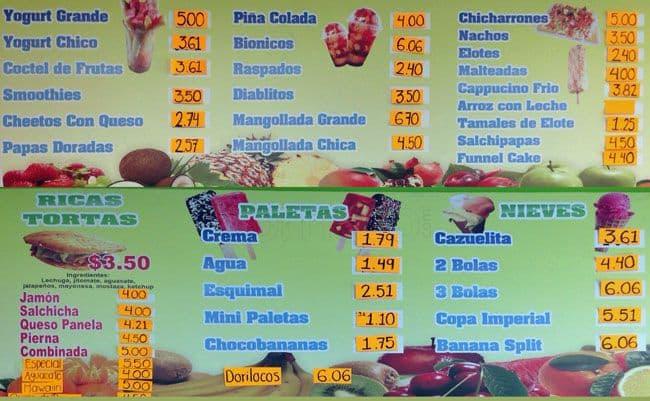 Paleteria Las Delicias De Michoacan Menu Urbanspoon Zomato