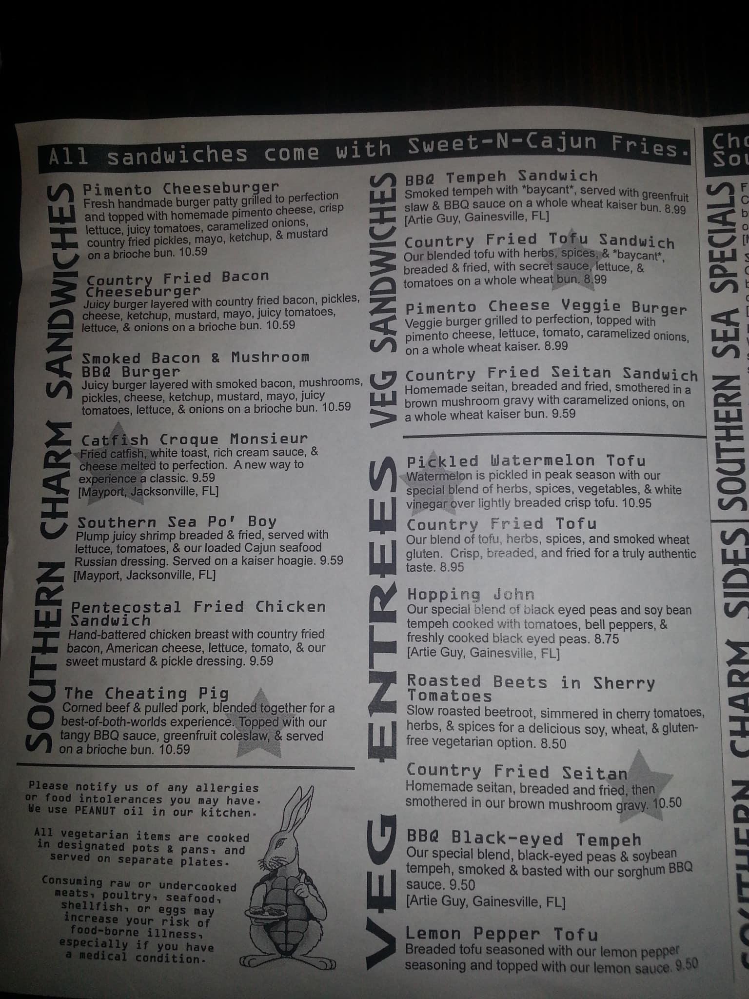 southern charm kitchen menu menu for southern charm