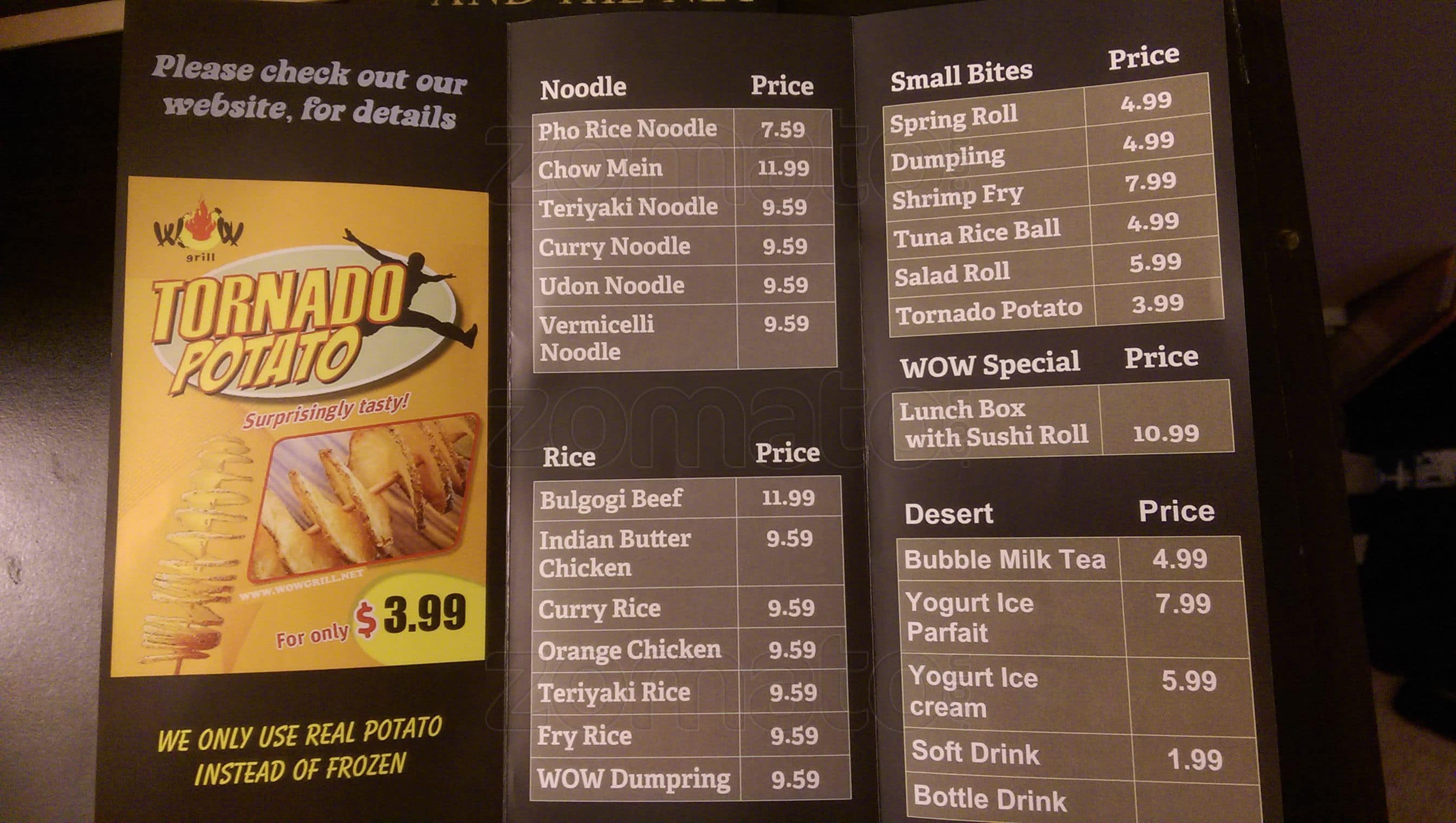 WOW Asian Grill Menu, Menu for WOW Asian Grill, Peace River, Peace ...