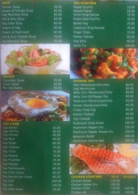 Green Park Family Garden Restaurant Menu Zomato