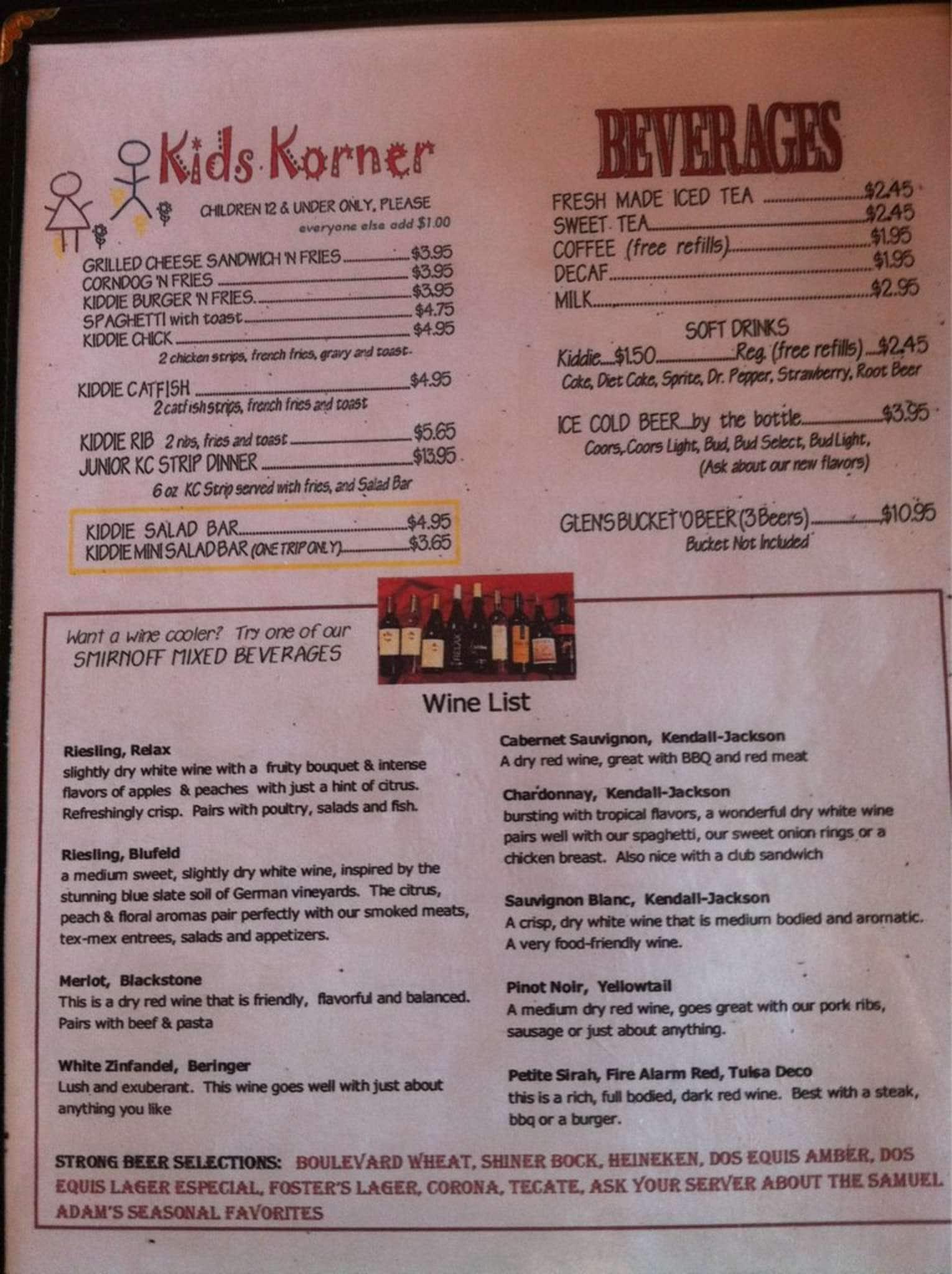 Stables Cafe Menu Menu For Stables Cafe Guthrie Oklahoma City