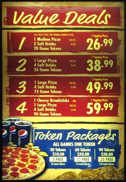 99 rows · The Chuck E. Cheese menu prices are so affordable that throwing a large children's .