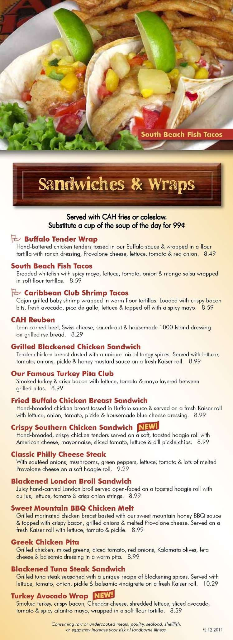 The Restaurant Information Including The Carolina Ale House Menu Items And  Prices May Have Been Modified Since The Last Website Update.