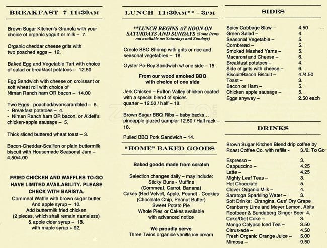 Brown Sugar Kitchen Menu, Menu for Brown Sugar Kitchen, West ...