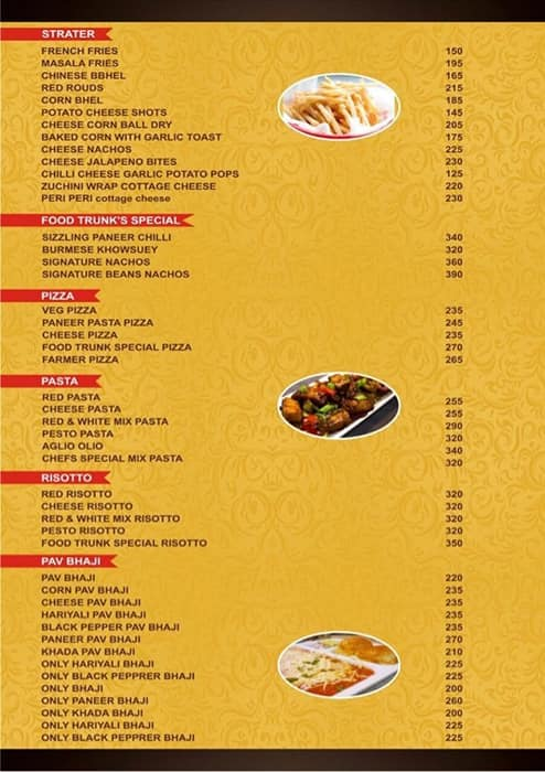 Food Trunk Menu Menu Untuk Food Trunk Ghatkopar East Mumbai
