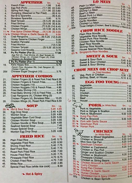 Chen S Kitchen Menu Menu For Chen S Kitchen Sagamore Beach Cape Cod