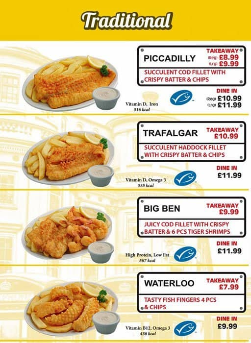 Fish N Chips Restaurant Menu